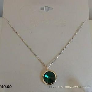 Jewelry - NWT Emerald Swarovski crystal necklace
